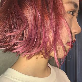 前髪あり ストリート 小顔 くせ毛風 ヘアスタイルや髪型の写真・画像