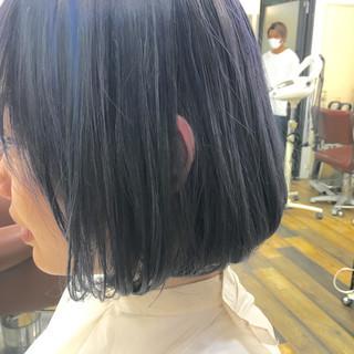 ダブルカラー 暗髪 ボブ アッシュ ヘアスタイルや髪型の写真・画像 ヘアスタイルや髪型の写真・画像