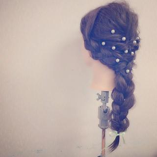 フェミニン ロング 愛され ヘアアレンジ ヘアスタイルや髪型の写真・画像