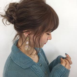 外国人風 ボブ グラデーションカラー ゆるふわ ヘアスタイルや髪型の写真・画像