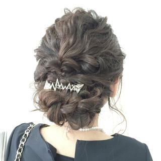 ロープ編み ゆるふわ ヘアアレンジ 大人かわいい ヘアスタイルや髪型の写真・画像