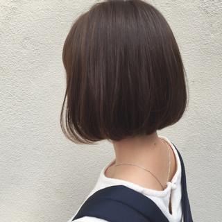 大人女子 ボブ ワンカール 外ハネ ヘアスタイルや髪型の写真・画像