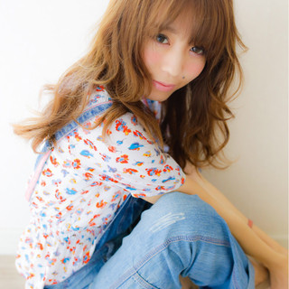 フェミニン 前髪あり ガーリー 大人かわいい ヘアスタイルや髪型の写真・画像