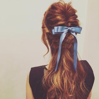 ヘアアレンジ くるりんぱ 大人女子 編み込み ヘアスタイルや髪型の写真・画像 ヘアスタイルや髪型の写真・画像