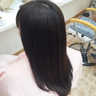 ナチュラル 縮毛矯正 ロング ストレート ヘアスタイルや髪型の写真・画像