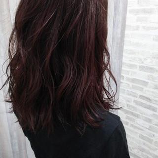 夏 ピンク ダブルカラー ミディアム ヘアスタイルや髪型の写真・画像