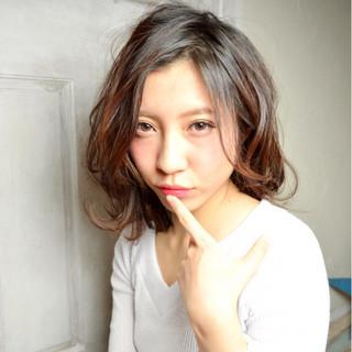 ガーリー 大人かわいい 外国人風 ミディアム ヘアスタイルや髪型の写真・画像