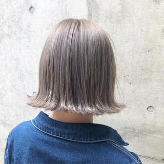 ストリート グラデーションカラー ボブ アッシュ ヘアスタイルや髪型の写真・画像 ヘアスタイルや髪型の写真・画像