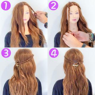 オフィス デート 梅雨 フェミニン ヘアスタイルや髪型の写真・画像