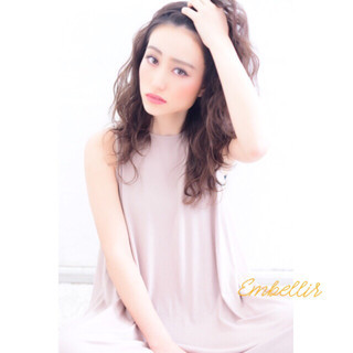 外国人風 パーマ グラデーションカラー モード ヘアスタイルや髪型の写真・画像