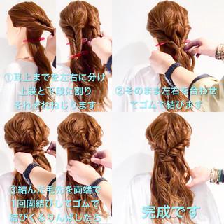 簡単ヘアアレンジ ロング フェミニン アウトドア ヘアスタイルや髪型の写真・画像 ヘアスタイルや髪型の写真・画像