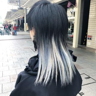 セミロング ブリーチ ブリーチオンカラー モード ヘアスタイルや髪型の写真・画像 ヘアスタイルや髪型の写真・画像