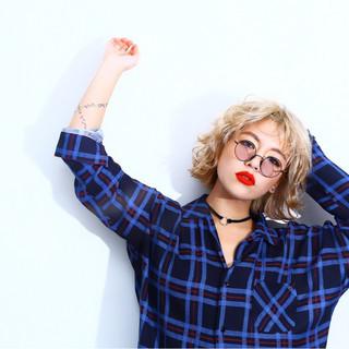 ミディアム 外国人風 色気 モード ヘアスタイルや髪型の写真・画像