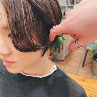 大人ショート ハイライト ショート ハンサムショート ヘアスタイルや髪型の写真・画像