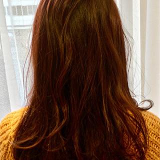 パープル ゆるふわ ピンク ナチュラル ヘアスタイルや髪型の写真・画像