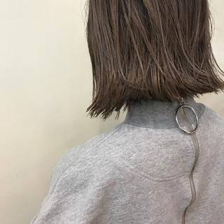 外ハネ ボブ ハイライト 切りっぱなし ヘアスタイルや髪型の写真・画像 ヘアスタイルや髪型の写真・画像
