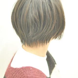 大人かわいい 大人ヘアスタイル ナチュラル ショートボブ ヘアスタイルや髪型の写真・画像