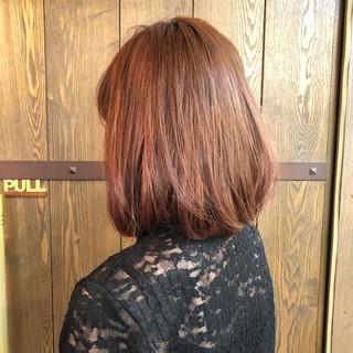 ハイライト ベージュ ナチュラル ピンク ヘアスタイルや髪型の写真・画像