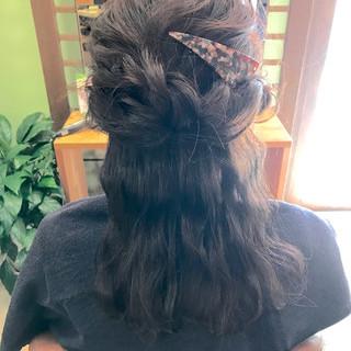 波ウェーブ ロング ヘアアレンジ 結婚式 ヘアスタイルや髪型の写真・画像