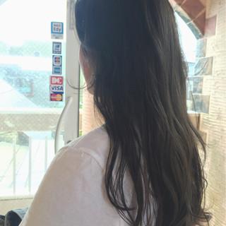 透明感 ロング 秋 アッシュ ヘアスタイルや髪型の写真・画像