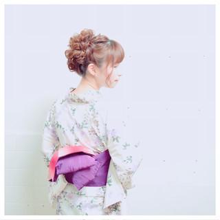 ヘアアレンジ お祭り ミディアム 花火大会 ヘアスタイルや髪型の写真・画像