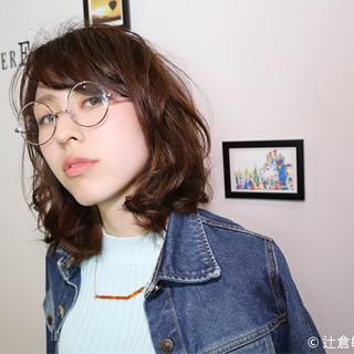 ミディアム ブラウン ストリート ハイライト ヘアスタイルや髪型の写真・画像 ヘアスタイルや髪型の写真・画像