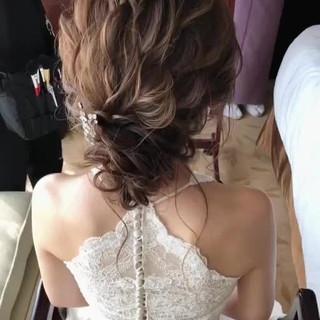 結婚式 ヘアアレンジ ゆるふわ 大人女子 ヘアスタイルや髪型の写真・画像