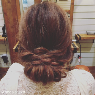 簡単ヘアアレンジ ヘアアレンジ ショート 編み込み ヘアスタイルや髪型の写真・画像