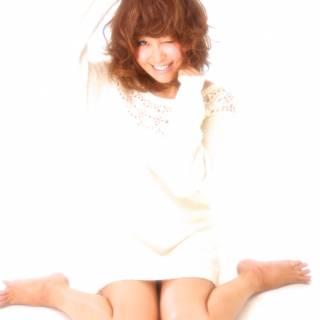 モテ髪 パーマ セミロング セクシー ヘアスタイルや髪型の写真・画像