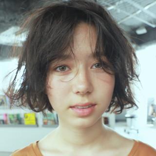 暗髪 ショート 色気 ボブ ヘアスタイルや髪型の写真・画像