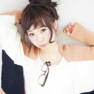 お団子 ヘアアレンジ ショート 簡単ヘアアレンジ ヘアスタイルや髪型の写真・画像 ヘアスタイルや髪型の写真・画像
