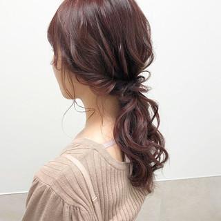 ナチュラル ヘアアレンジ ポニーテール 大人可愛い ヘアスタイルや髪型の写真・画像