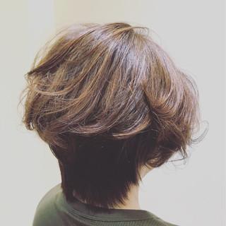 グラデーションカラー パーマ ゆるふわ ボブ ヘアスタイルや髪型の写真・画像