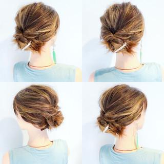 アウトドア 涼しげ ヘアアレンジ 夏 ヘアスタイルや髪型の写真・画像