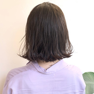 ヌーディーベージュ ボブ ブラウンベージュ アッシュベージュ ヘアスタイルや髪型の写真・画像