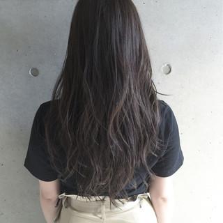 ナチュラル 暗髪 ロング ブラウン ヘアスタイルや髪型の写真・画像