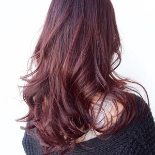 ベージュ ピンクアッシュ 外国人風カラー ロング ヘアスタイルや髪型の写真・画像