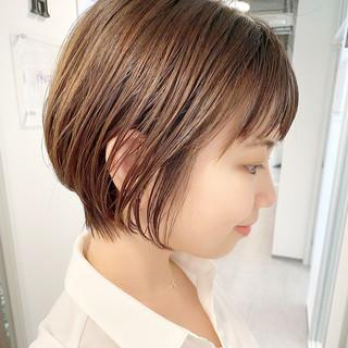 ショートヘア デート ナチュラル ショート ヘアスタイルや髪型の写真・画像