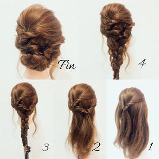 ミディアム 春 ヘアアレンジ 結婚式 ヘアスタイルや髪型の写真・画像
