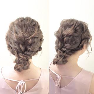 ロング 簡単ヘアアレンジ ガーリー ヘアアレンジ ヘアスタイルや髪型の写真・画像