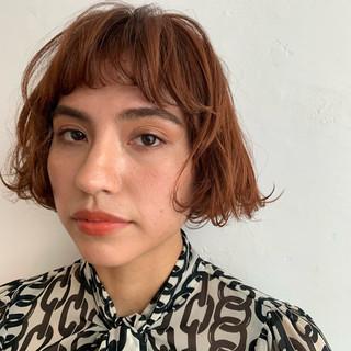 フェミニン ミニボブ 切りっぱなしボブ ボブ ヘアスタイルや髪型の写真・画像
