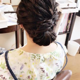 ナチュラル 女子会 ヘアアレンジ ミディアム ヘアスタイルや髪型の写真・画像