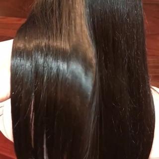 デート ツヤ髪 髪質改善トリートメント ナチュラル ヘアスタイルや髪型の写真・画像