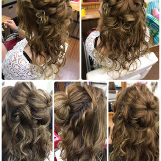 ルーズ ロング ヘアアレンジ ガーリー ヘアスタイルや髪型の写真・画像