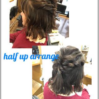 ボブ 簡単ヘアアレンジ ヘアアレンジ パーマ ヘアスタイルや髪型の写真・画像 ヘアスタイルや髪型の写真・画像