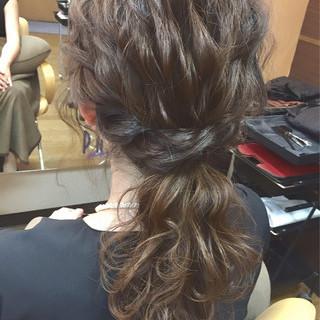 フェミニン 外国人風 セミロング グラデーションカラー ヘアスタイルや髪型の写真・画像