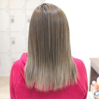 髪質改善トリートメント エレガント セミロング トリートメント ヘアスタイルや髪型の写真・画像
