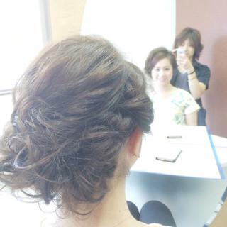ガーリー フェミニン パーティ アップスタイル ヘアスタイルや髪型の写真・画像