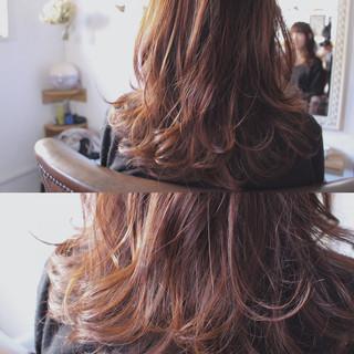 ナチュラル ハイライト モーブ ピンク ヘアスタイルや髪型の写真・画像