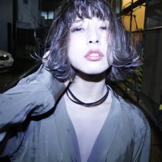 ボブ パーマ ボブ ストリート ヘアスタイルや髪型の写真・画像